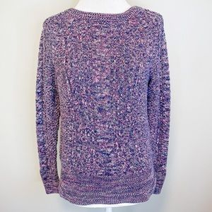 Gap Purple Chunky Cable Knit Pullover Sweater